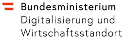 Logo des Bundesministerium Digitalisierung und Wirtschaftsstandort
